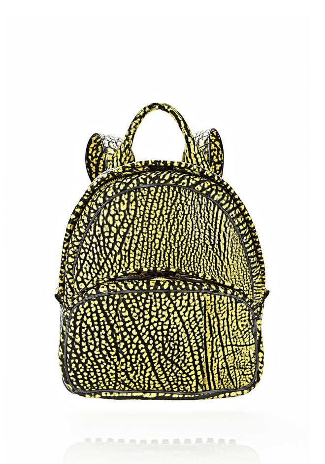 ALEXANDER WANG DUMBO BACKPACK IN CONTRAST TIP CITRON BACKPACK Adult 12_n_f