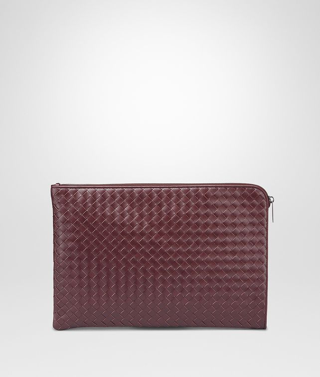 BOTTEGA VENETA PORTA DOCUMENTI AUBERGINE IN VN INTRECCIATO Porta Documenti e Marsupio U fp