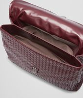 BUSINESS BAG AUBERGINE IN VN INTRECCIATO