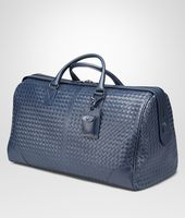 LARGE DUFFEL BAG IN LIGHT TOURMALINE INTRECCIATO VN