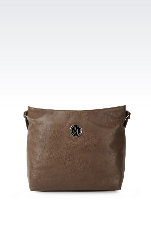 HOBO BAG IN TUMBLED FAUX LEATHER: Hobo bags Women by Armani - 1