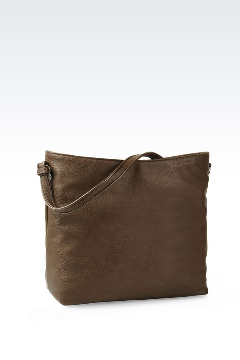 HOBO BAG IN TUMBLED FAUX LEATHER: Hobo bags Women by Armani - 2
