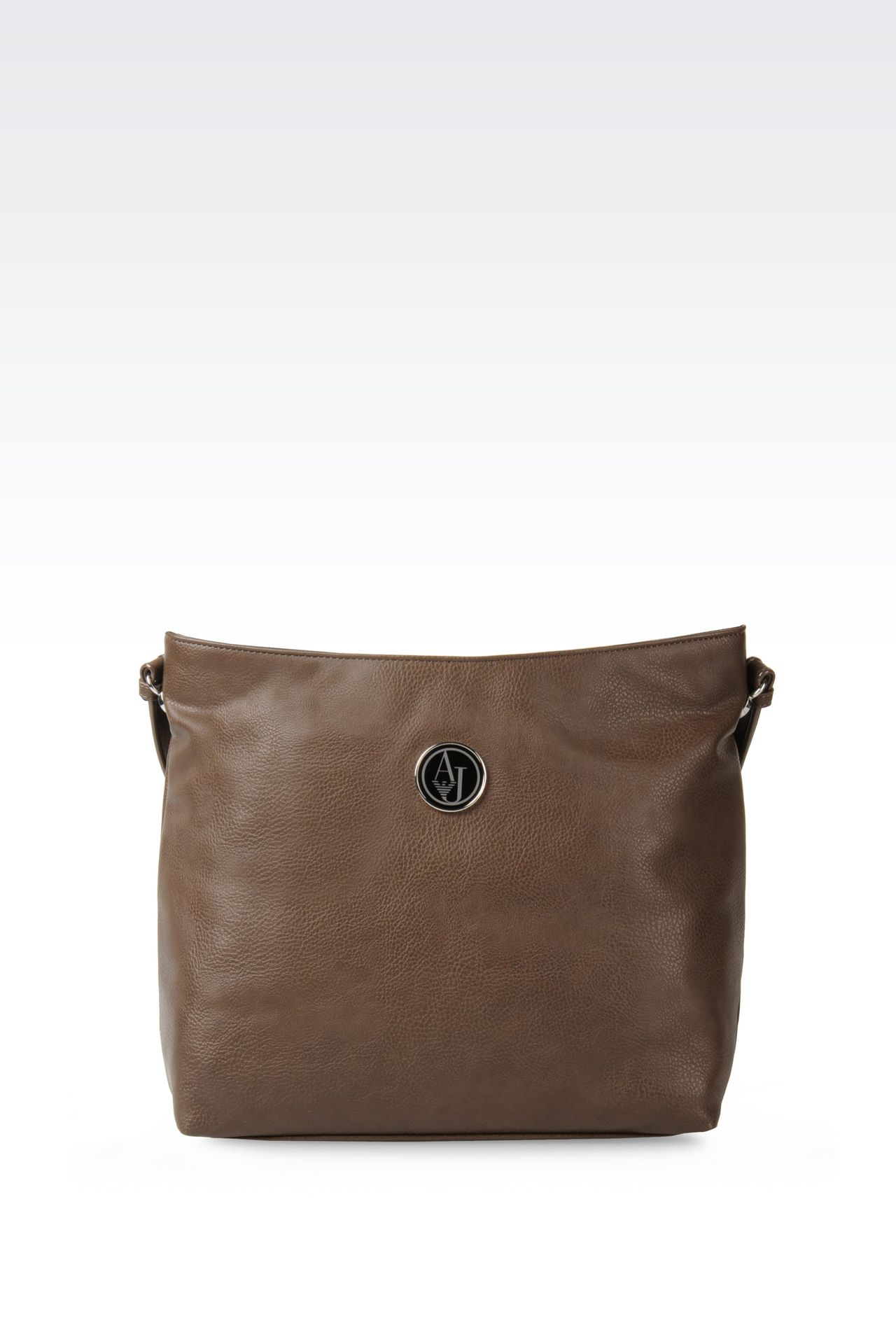 HOBO BAG IN TUMBLED FAUX LEATHER: Hobo bags Women by Armani - 0