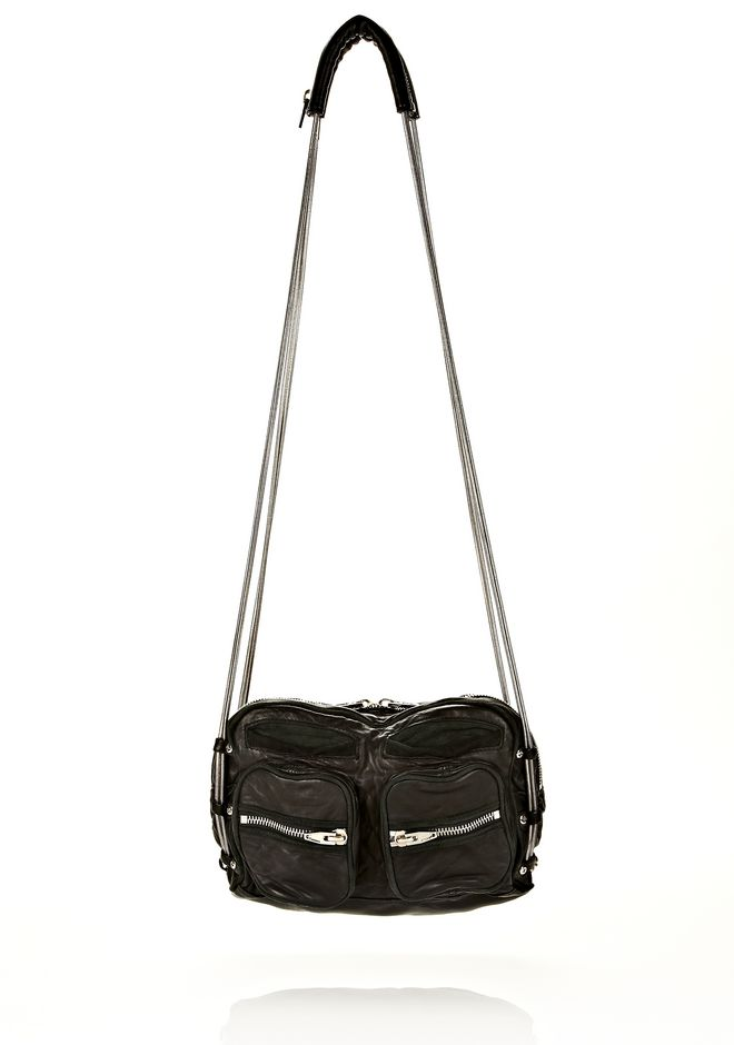 ALEXANDER WANG Shoulder bags Women BRENDA CHAIN IN WASHED BLACK  WITH RHODIUM
