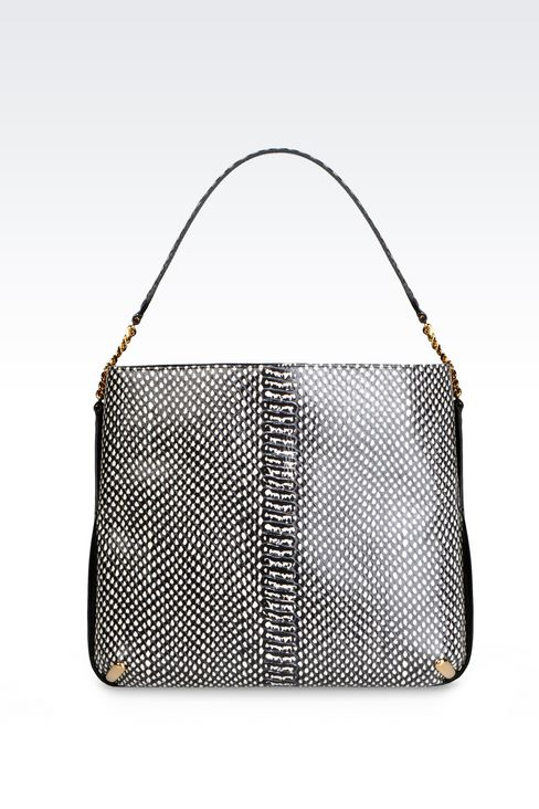 HOBO BAG IN PRINTED CALFSKIN: Hobo bags Women by Armani - 1