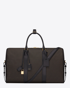 CLASSIC Monogram DUFFLE 48 BAG IN BLACK printed  CANVAS AND LEATHER