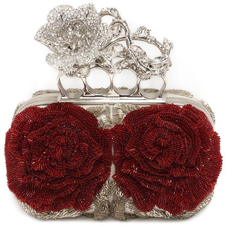 Alexander McQueen, Harness Flower Short Knuckle Box Clutch