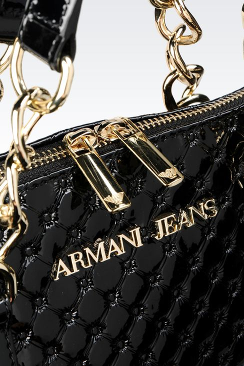 BAG IN PATENT: Top handles Women by Armani - 4