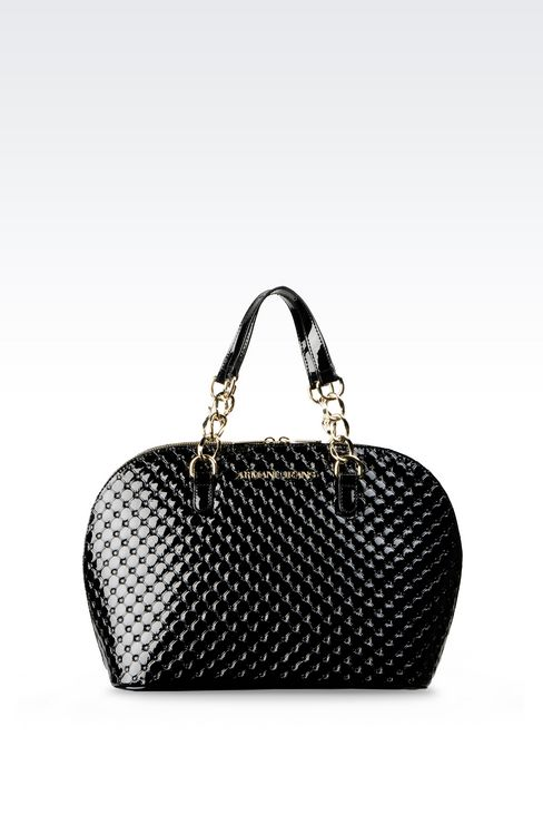 BAG IN PATENT: Top handles Women by Armani - 1