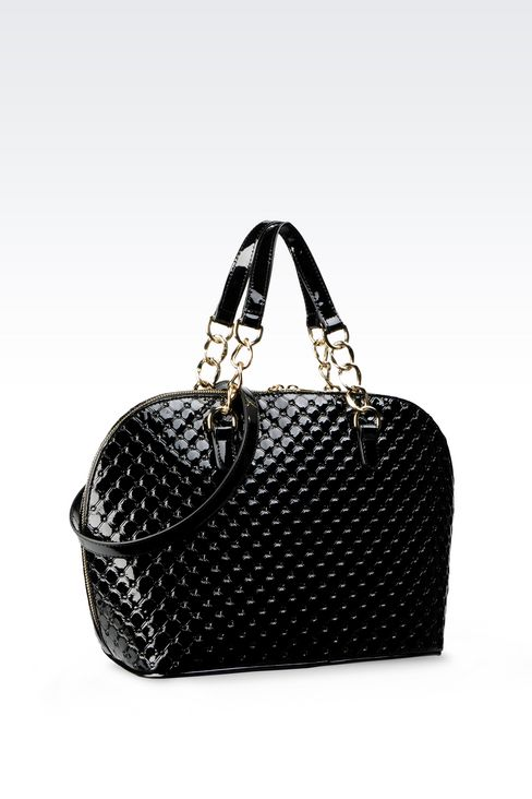 BAG IN PATENT: Top handles Women by Armani - 2