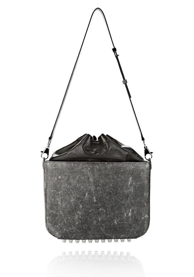 ALEXANDER WANG EXCLUSIVE DISTRESSED FLAT BUCKET BAG IN EROSION  Shoulder bag Adult 12_n_e
