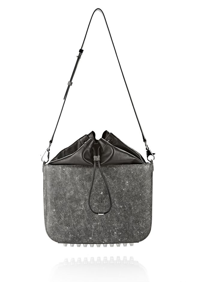 ALEXANDER WANG EXCLUSIVE DISTRESSED FLAT BUCKET BAG IN EROSION