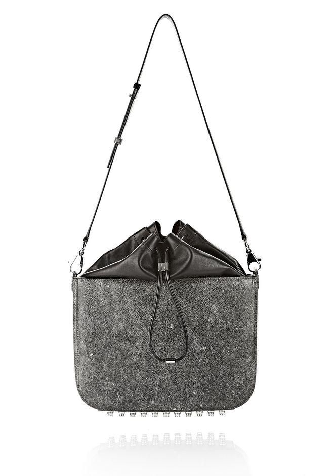 ALEXANDER WANG EXCLUSIVE DISTRESSED FLAT BUCKET BAG IN EROSION  Shoulder bag Adult 12_n_f