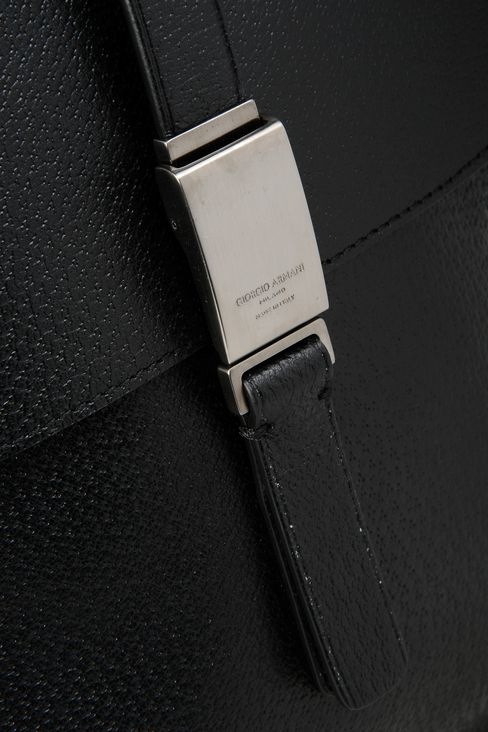 SHOULDER BAG IN WILD BOAR: Messenger bags Men by Armani - 4