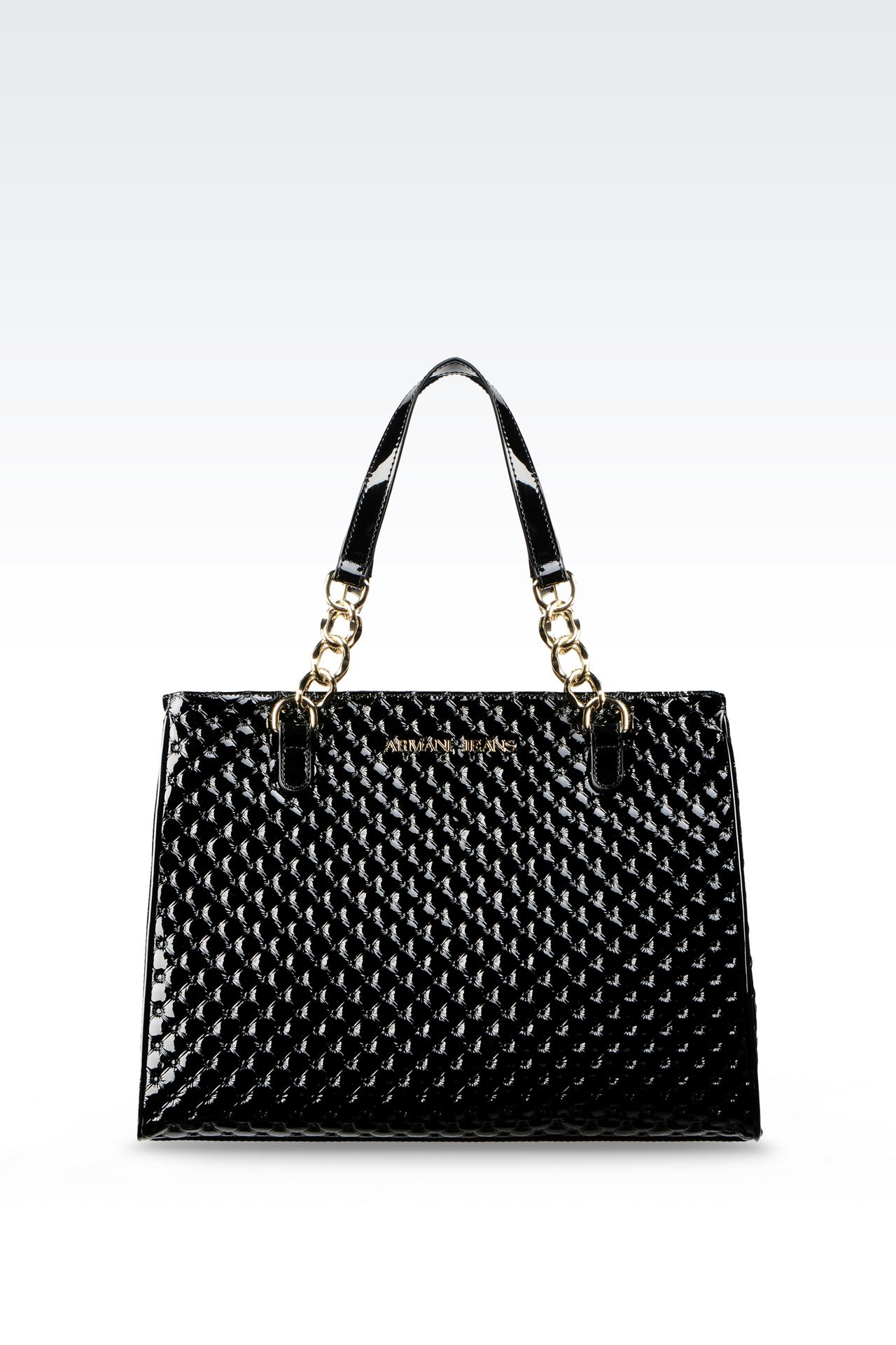 SHOPPING BAG IN PATENT LEATHER: Shoppers Women by Armani - 0