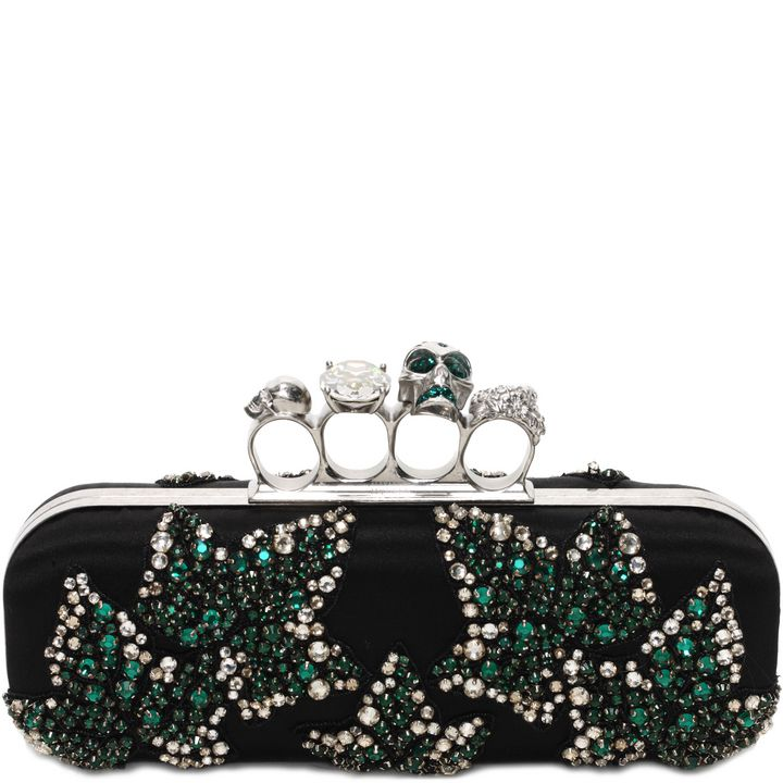 Alexander McQueen, Ivy Embroidery Knuckle Box Clutch