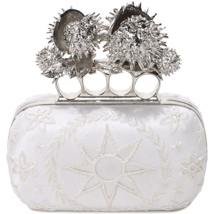 Alexander McQueen, Embroidery Moon And Star Knuklebox Clutch