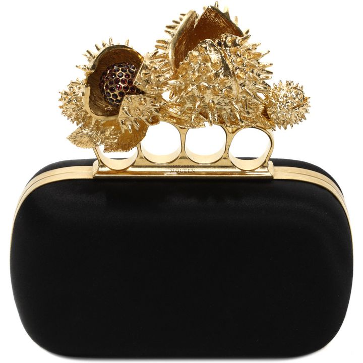 Alexander McQueen, Chestnut Knucklebox Clutch