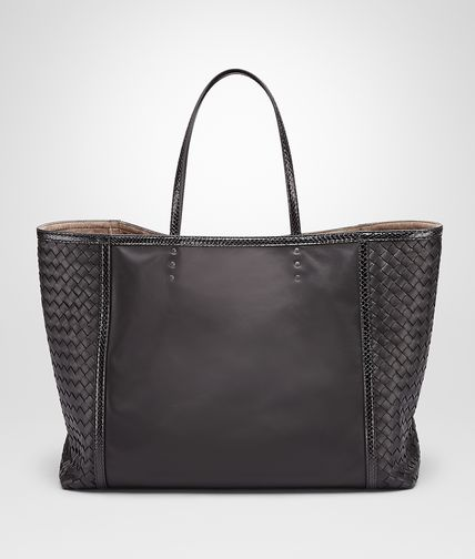 TOTE BAG IN NERO NAPPA WITH AYERS DETAILS