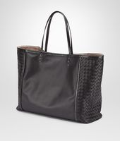 TOTE BAG IN NERO NAPPA, AYERS DETAILS