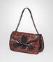 BOTTEGA VENETA BURNT RED ELAPHE RIALTO BAG Shoulder or hobo bag D rp
