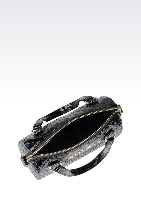 CROSS BODY BAG IN PATENT LEATHER: Messenger bags Women by Armani - 3