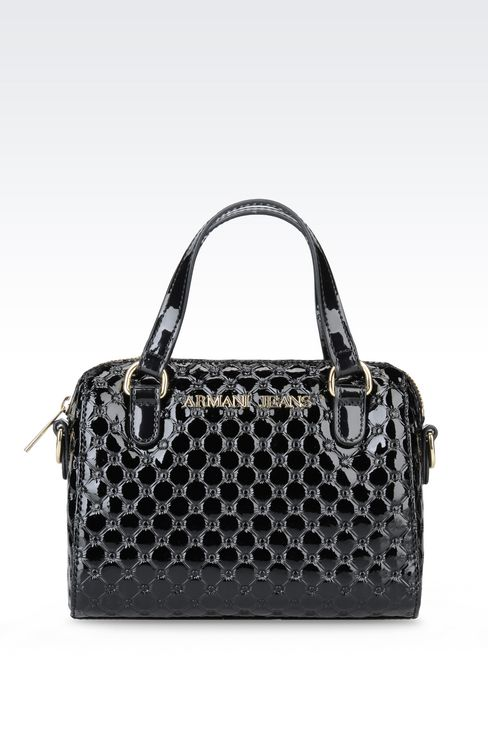 CROSS BODY BAG IN PATENT LEATHER: Messenger bags Women by Armani - 1