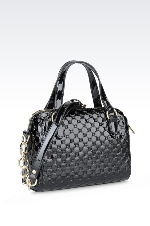 CROSS BODY BAG IN PATENT LEATHER: Messenger bags Women by Armani - 2
