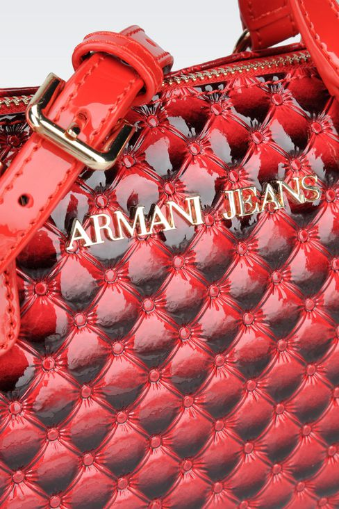 CROSS BODY BAG IN PATENT LEATHER: Messenger bags Women by Armani - 4