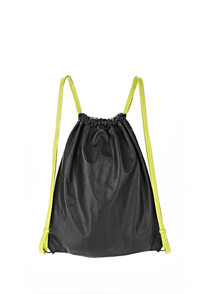 ALEXANDER WANG GYM SACK IN BOTTLE GLOVE  BACKPACK Adult 12_n_e