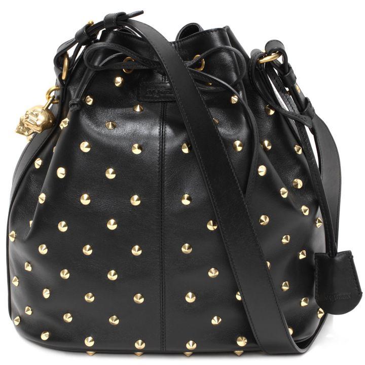 Alexander McQueen, Spike Studded Padlock Bucket Bag