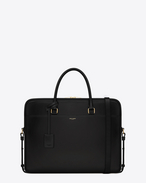 Classic Duffle Small Briefcase in Black Leather