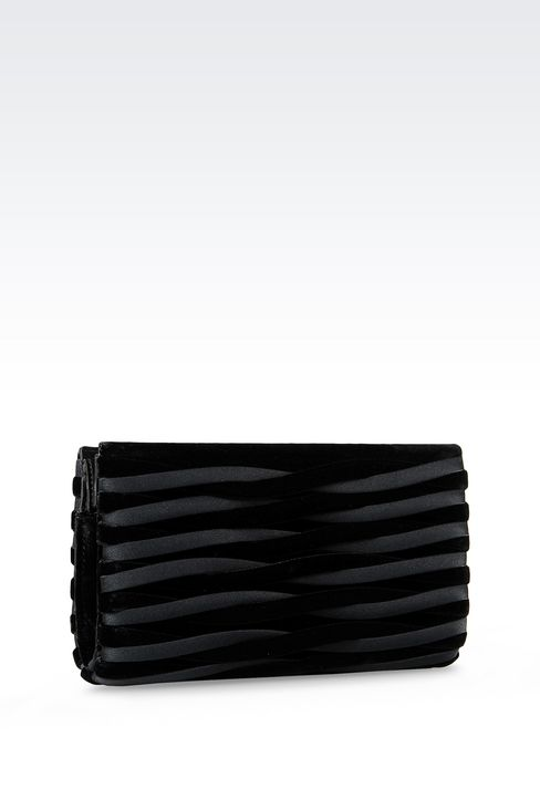 CLUTCH IN VELVET AND CUPRO: Clutch bags Women by Armani - 2