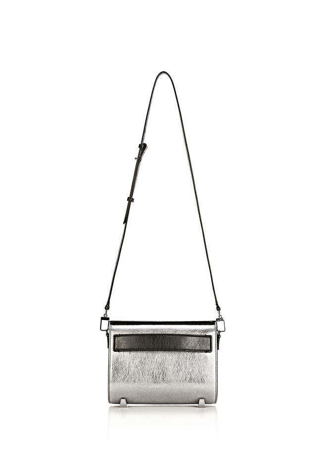ALEXANDER WANG CHASTITY MINI SLING IN SILVER WITH RHODIUM Shoulder bag Adult 12_n_f