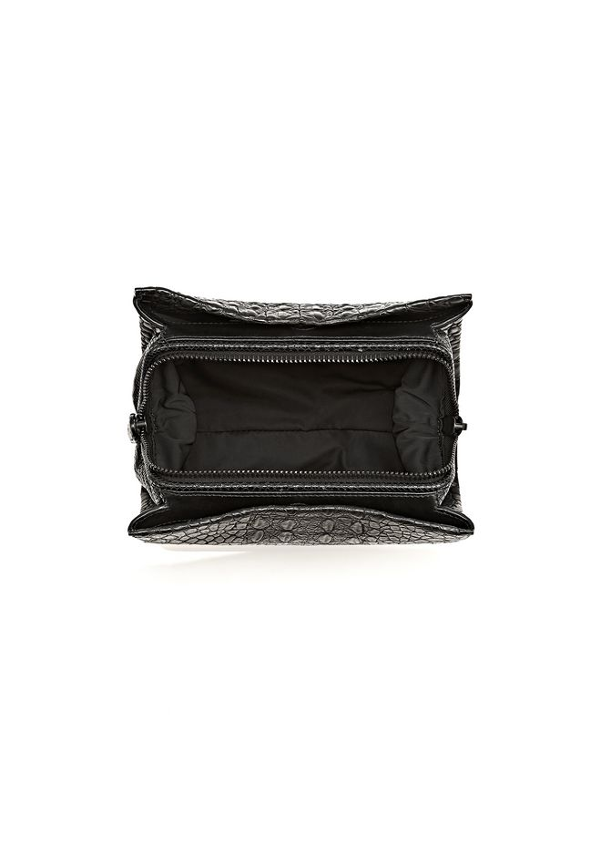 ALEXANDER WANG PELICAN CLUTCH IN EMBOSSED MATTE BLACK WITH MATTE BLACK CLUTCH Adult 12_n_a