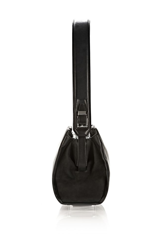 ALEXANDER WANG PELICAN SATCHEL IN BLACK WITH RHODIUM Shoulder bag Adult 12_n_d