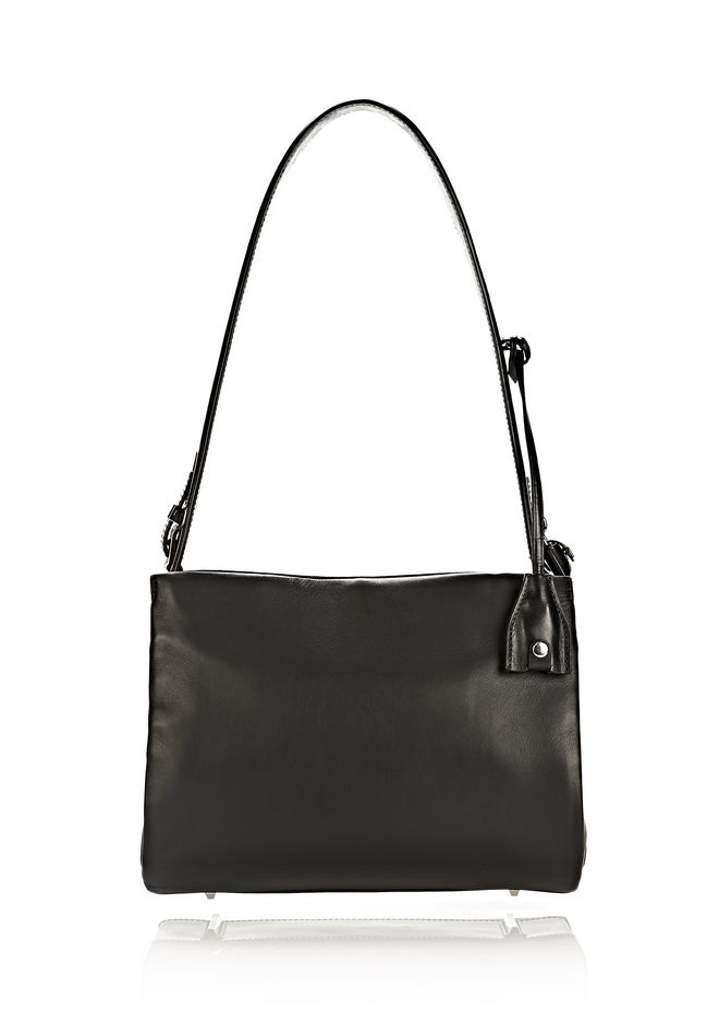 ALEXANDER WANG PELICAN SATCHEL IN BLACK WITH RHODIUM Shoulder bag Adult 12_n_f
