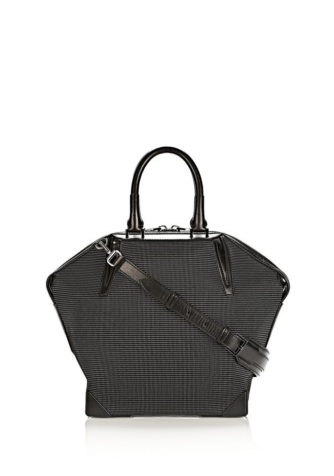 ALEXANDER WANG PRISMA EMILE TOTE IN BLACK AND WHITE NEOPRENE