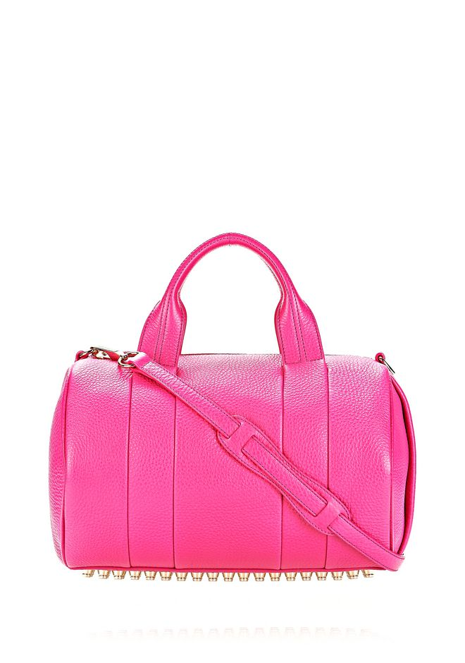 ALEXANDER WANG ROCCO IN FLAMINGO WITH PALE GOLD Shoulder bag Adult 12_n_f