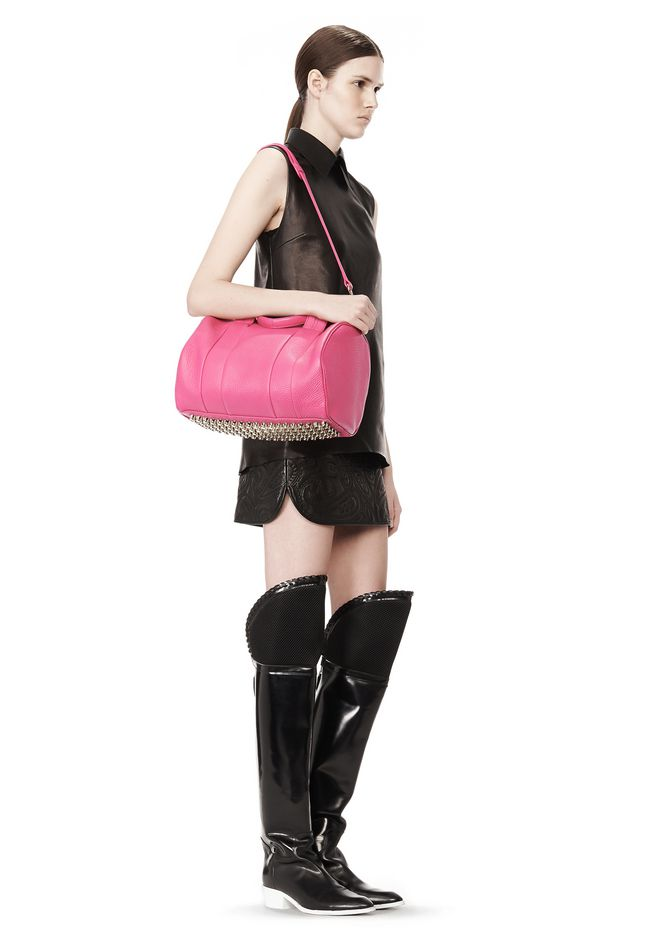 ALEXANDER WANG ROCCO IN FLAMINGO WITH PALE GOLD Shoulder bag Adult 12_n_r