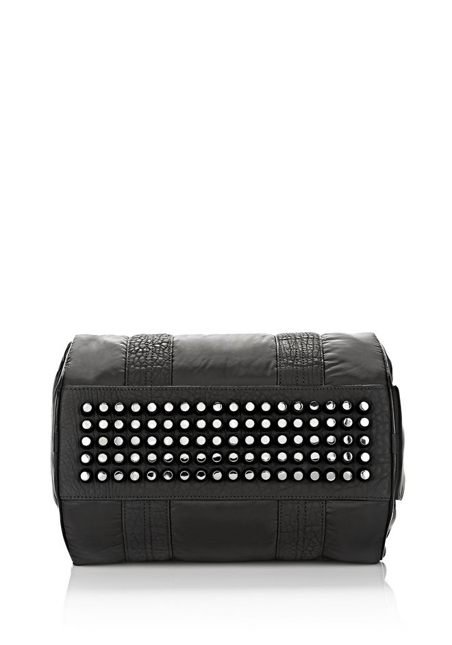 ALEXANDER WANG EXCLUSIVE ROCCO SATCHEL IN BLACK NYLON WITH RHODIUM Shoulder bag Adult 12_n_d