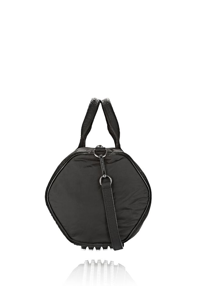 ALEXANDER WANG EXCLUSIVE ROCCO SATCHEL IN BLACK NYLON WITH RHODIUM Shoulder bag Adult 12_n_e
