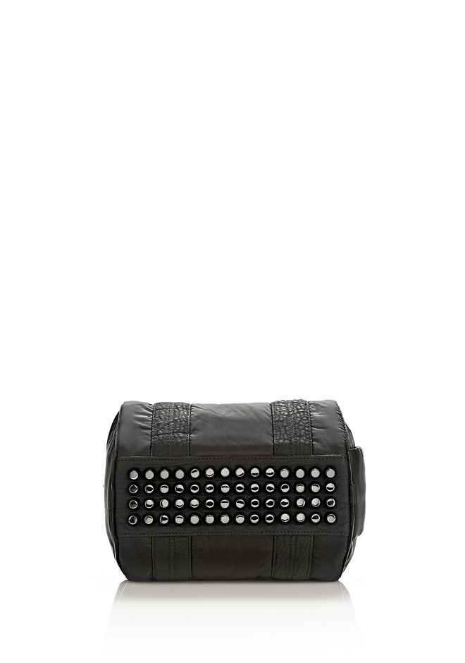 ALEXANDER WANG EXCLUSIVE ROCKIE SLING IN BLACK NYLON WITH RHODIUM Shoulder bag Adult 12_n_e