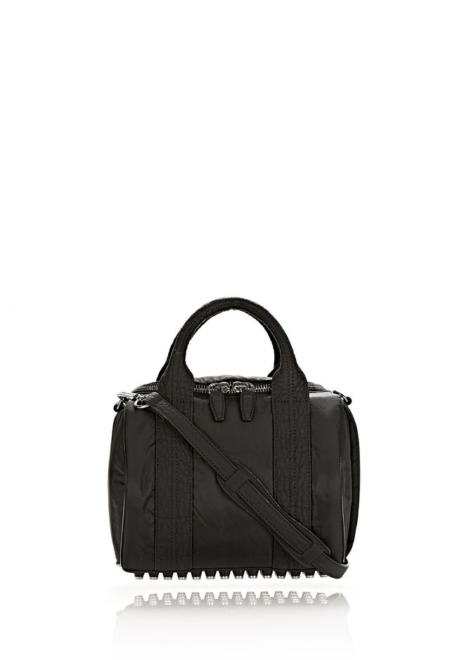 ALEXANDER WANG EXCLUSIVE ROCKIE SLING IN BLACK NYLON WITH RHODIUM Shoulder bag Adult 12_n_f
