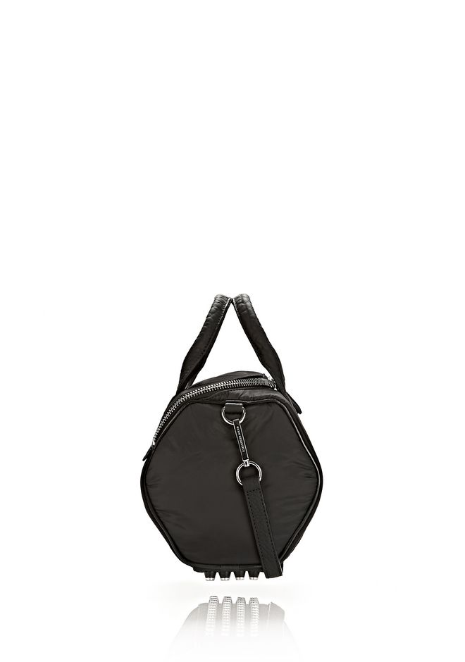 EXCLUSIVE ROCKIE SLING IN BLACK NYLON WITH RHODIUM