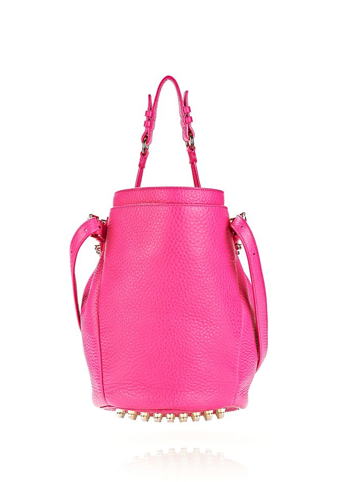 ALEXANDER WANG DIEGO IN SOFT PEBBLED FLAMINGO WITH PALE GOLD Shoulder bag Adult 12_n_d