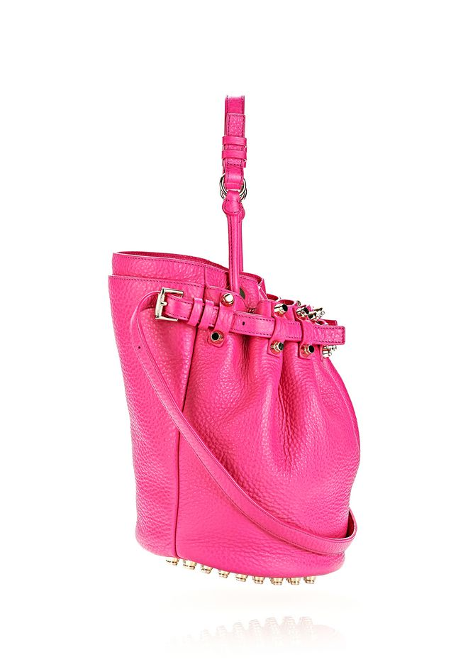 ALEXANDER WANG DIEGO IN SOFT PEBBLED FLAMINGO WITH PALE GOLD Shoulder bag Adult 12_n_e