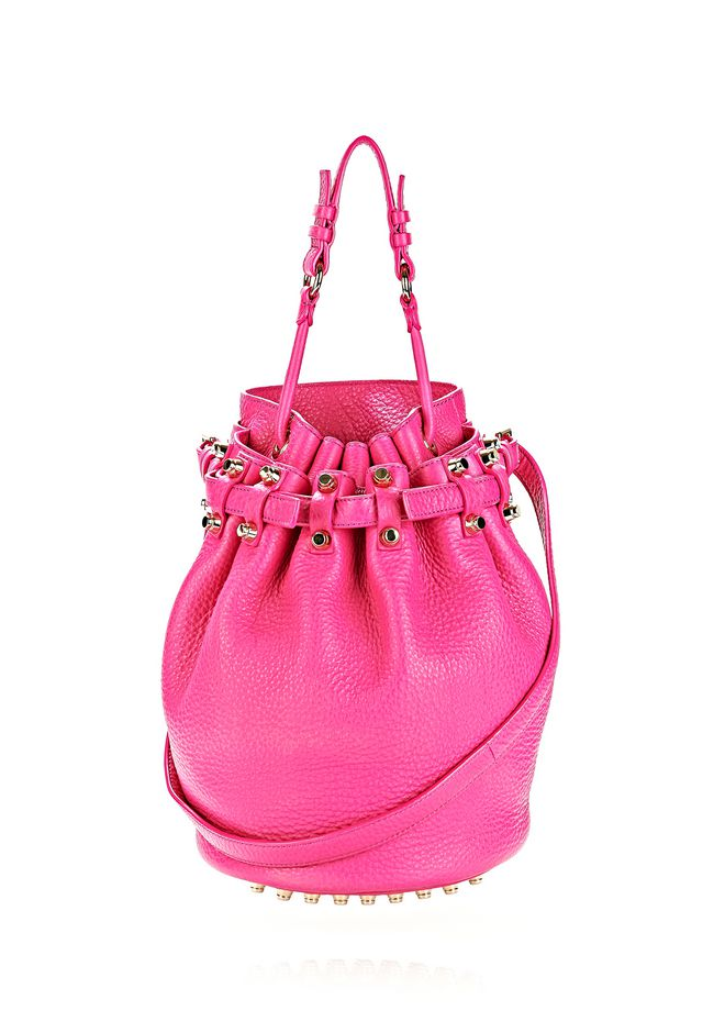ALEXANDER WANG DIEGO IN SOFT PEBBLED FLAMINGO WITH PALE GOLD