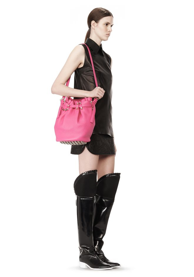 ALEXANDER WANG DIEGO IN SOFT PEBBLED FLAMINGO WITH PALE GOLD Shoulder bag Adult 12_n_r