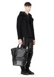 ALEXANDER WANG EXPLORER TOTE IN SHINY BLACK NYLON WITH MATTE BLACK Travel Adult 8_n_r